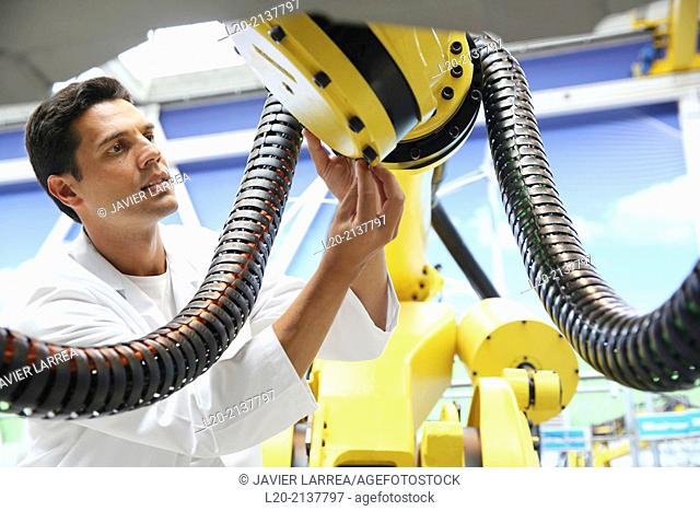 Research and development for the design of robotic manufacturing cell to work in aircraft component. Industry and Transport