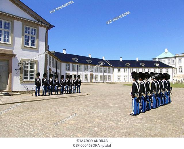 denmark soldiers in line