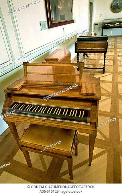 Mozart's piano in his former residence (now Mozart Museum), Salzburgo. Austria
