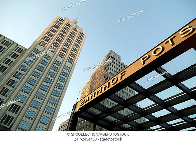 Station and hotel building at Potsdamer Platz in Berlin