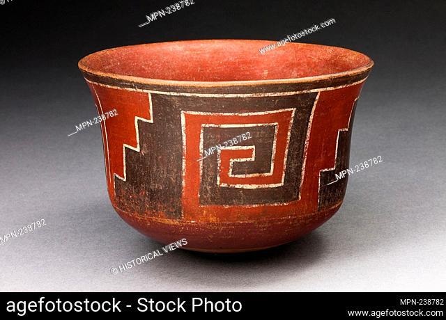 Cup with Stepped-Fret Motif - 180 B.C./A.D. 500 - Nazca South coast, Peru - Artist: Nazca, Origin: Nazca Valley, Date: 180 BC-500 AD