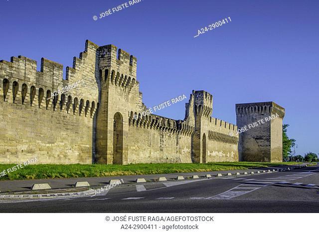 France, Provence region, Avignon city, , the walls of Avignon