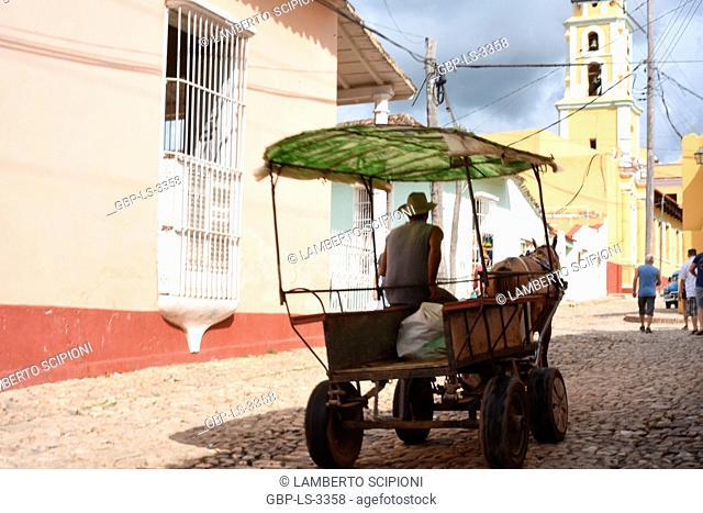 People, tourists, square, church, 2014, Cuba
