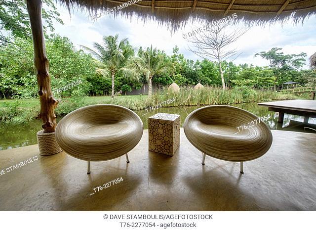 Thai eco resort at Amphawa, Thailand