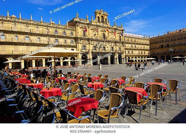 Main Square, Plaza Mayor, Salamanca. Castilla-Leon, Spain