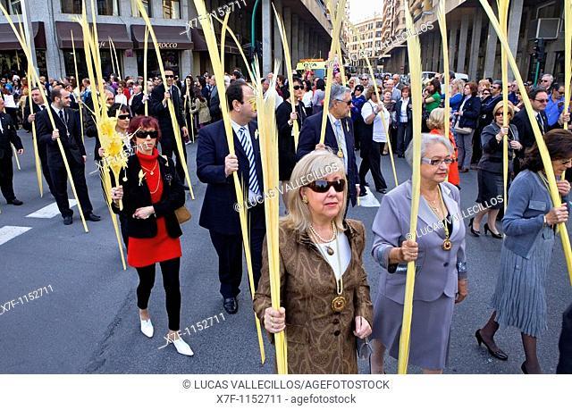 Palm Sunday procession, Elche  Alicante province, Comunidad Valenciana, Spain