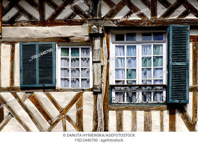 architectural detail, old town of Honfleur, Calvados, Normandy, France