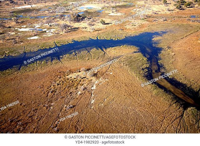 Aerial View of the Okawango Delta, Botswana