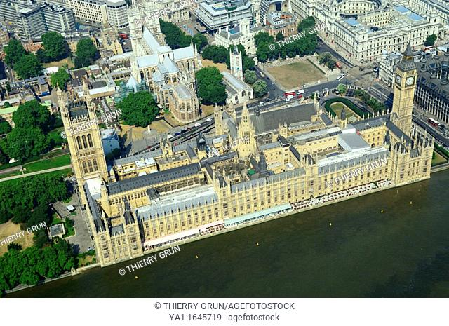Westminster and Big Ben tower, London city