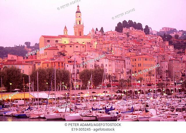 Harbour. Menton. Provence. France