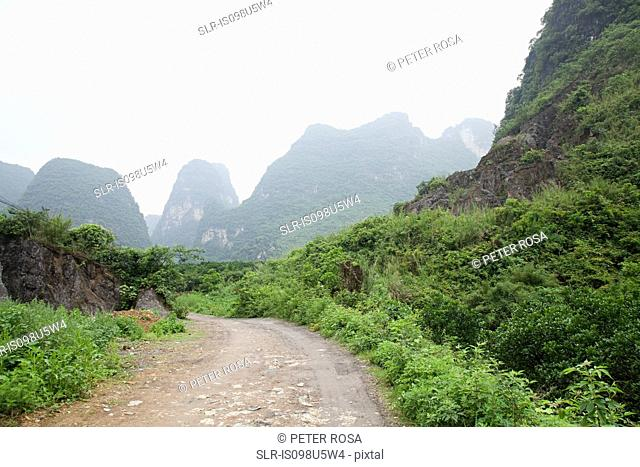 China, guangxi province, yangshuo karst landscape