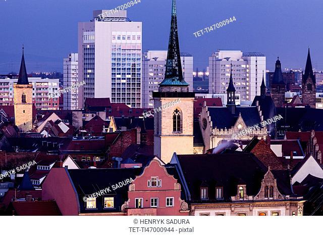 Cityscape with Allerheiligenkirche bell tower