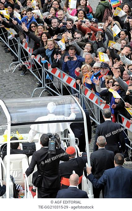 visit of Pope Francesco to Plebiscito Square, Naples, Italy 21/03/2015
