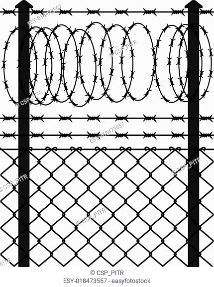 Chain Link Fence Barb Stock Photos And Images