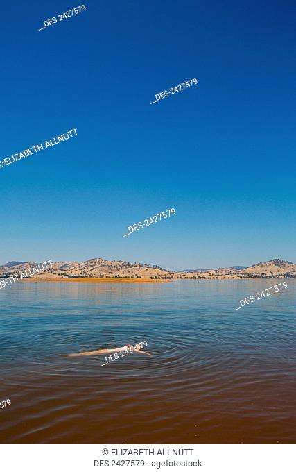 Swimming in Lake Hume; Riverina, New South Wales, Australia