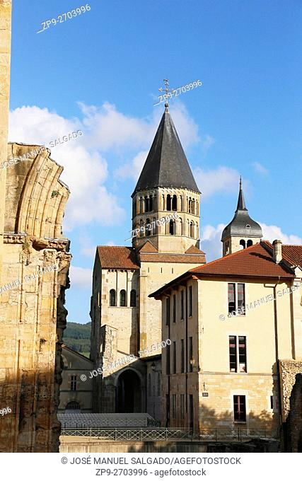 Cluny Abbey, Burgundy, France, the largest church in Christendom in the middle ages and second center of power after Rome
