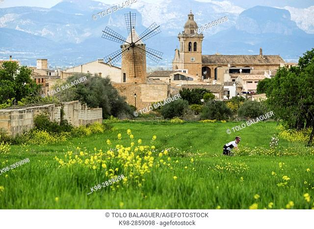 ciclistas, Algaida, Mallorca, balearic islands, spain