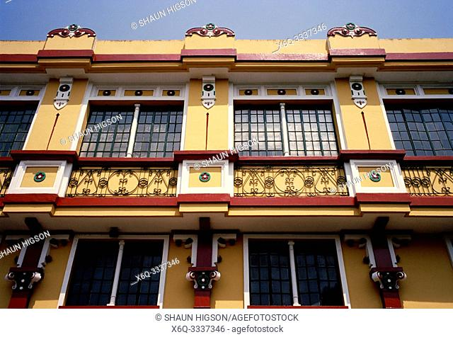 Colonial building in Intramuros in Manila in Luzon Metro Manila in the Philippines in Southeast Asia Far East