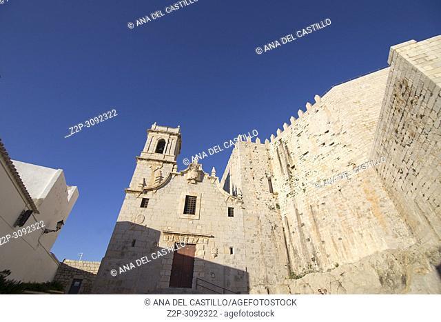Popes Luna castle at Peniscola medieval village in. Castellon province, Spain