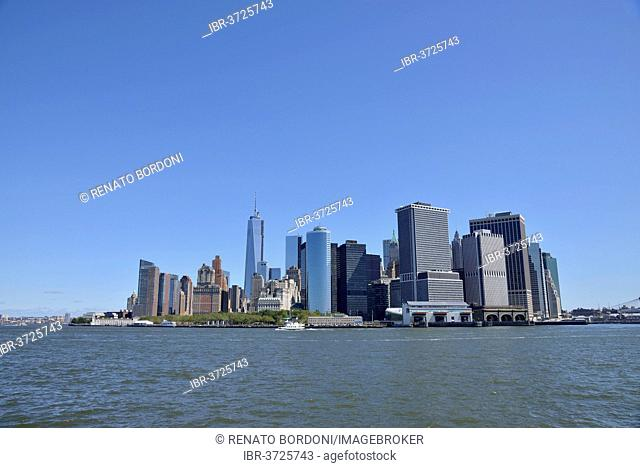 Skyline of Lower Manhattan, Manhattan, New York City, New York, United States