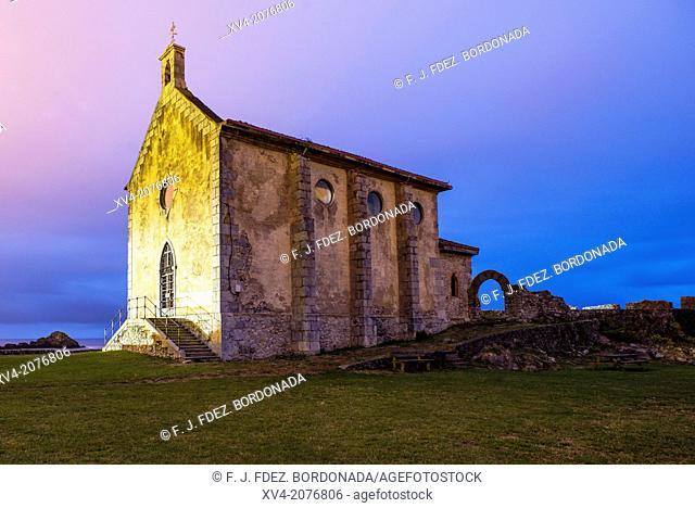 Santa Katalina chapel at Mundaka village, Biscay, Basuqe Country, Spain