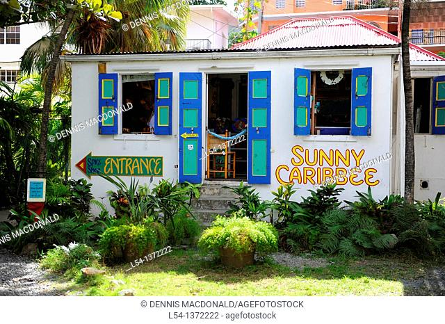 Herb and Spice Gift Shop Road Town Tortola BVI Caribbean Cruise Colorful