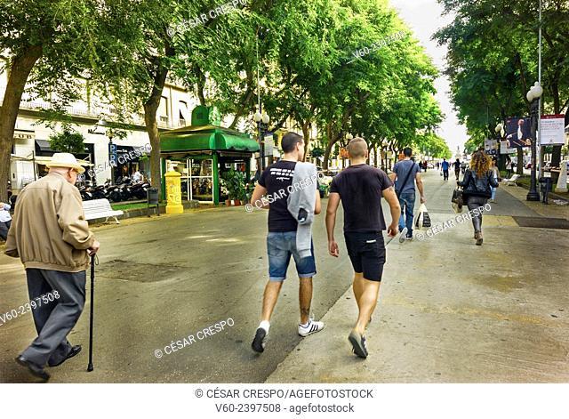 -Youth and Old generations- Tarragona Catalonia, Spain