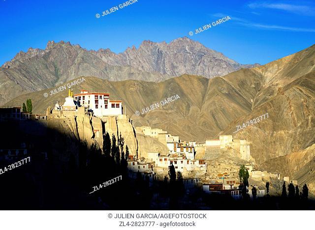 India, Jammu and Kashmir State, Himalaya, Ladakh, Indus valley, Buddhist monastery of Lamayuru (Yungdrung)