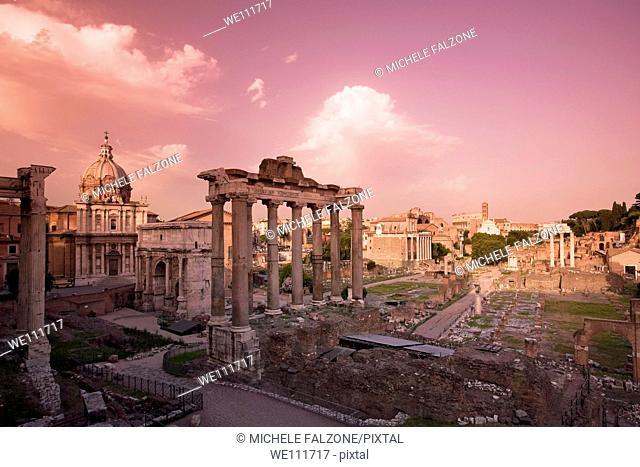 Roman Forum, Rome, Italy Sunset