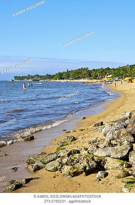 Brazil, State of Sao Paulo, Ilhabela Island, View of the beach in Pereque.