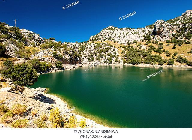 Mountain lake on Mallorca Balearic Islands Spain