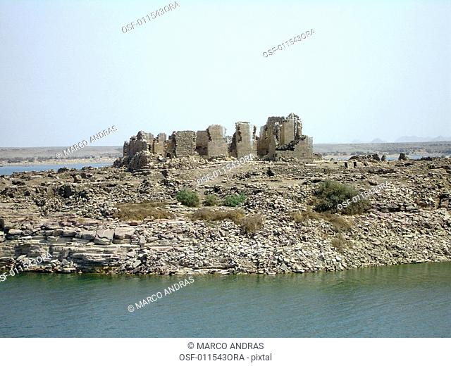 egypt a natural rocky island view