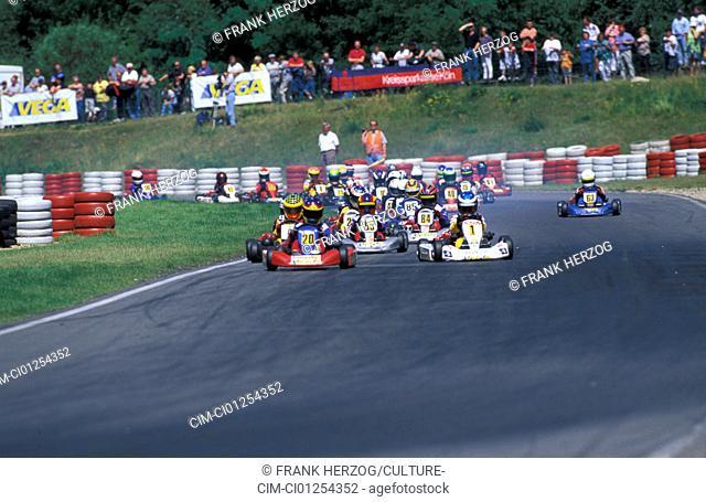Car, Car racing, Kartrace 1998 at Liedolsheim, Field
