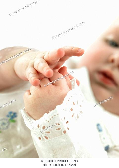 Baby with focus on hands