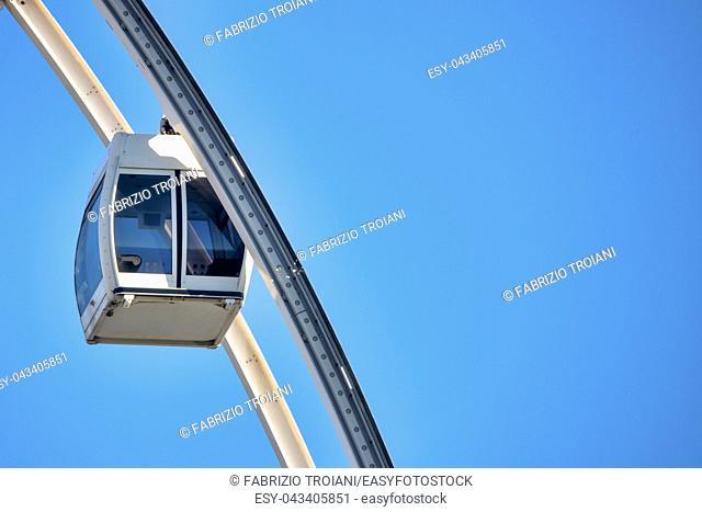 Close up shot of a Ferris Wheel cabin