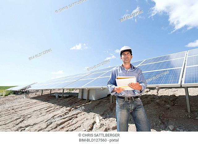engineer in solar plant