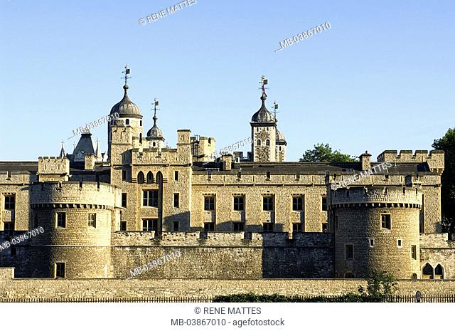 Great Britain, England, London, tower of London detail Europe, city, capital, sight, landmarks, buildings, construction, fortress, castle, fortification