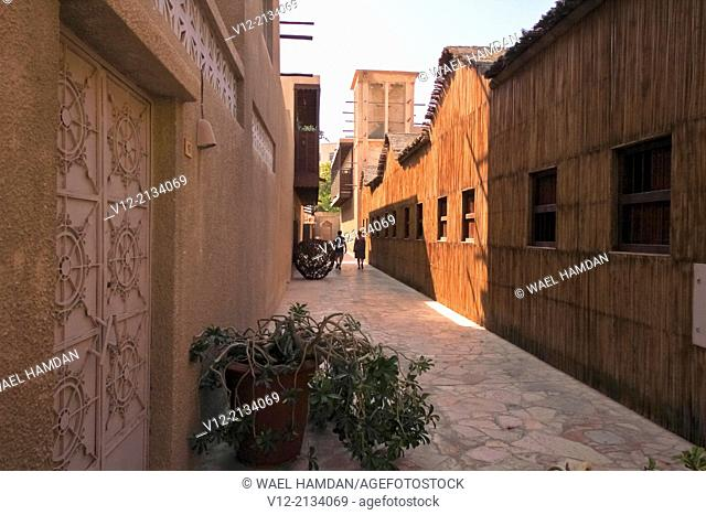 Bur Dubai, Dubai, United Arab Emirates Al Bastakiya District of historic Arabic houses