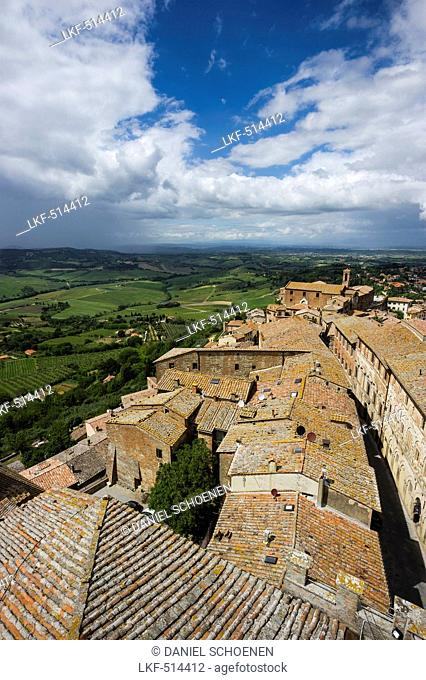 View over Montepulciano, province of Siena, Tuscany, Italy