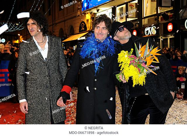 I Negrita on the Red Carpet of the 69th Sanremo Music Festival. Sanremo (Italy), Fabruary 4th, 2019