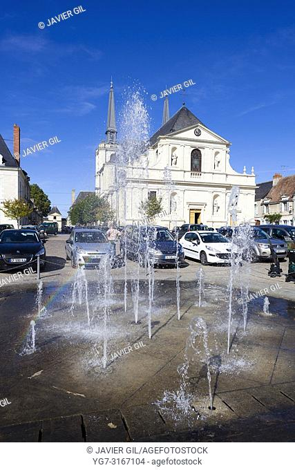 Square of Richelieu, Indre-et-Loire, Centre-Val de Loire, France