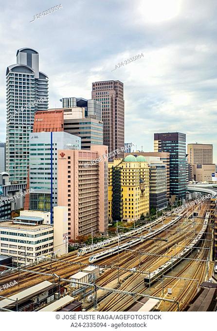 Japan , Kansai , Osaka City, Near Umeda Satation , skyline