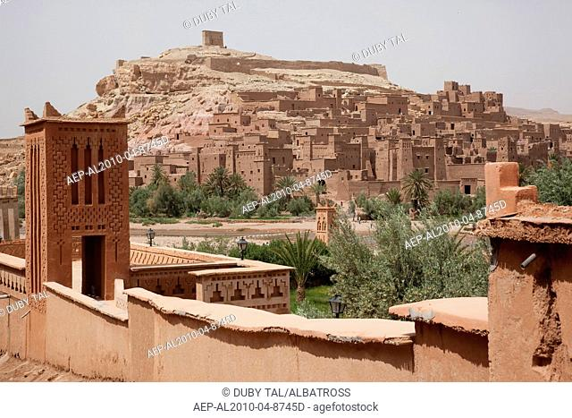 Photograph of the Moroccan village of Ait Benhaddou
