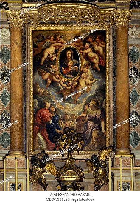 Madonna della Vallicella, by Peter Paul Rubens, 1606-1608, 17th Century, oil-on-slate, 425 x 250 cm
