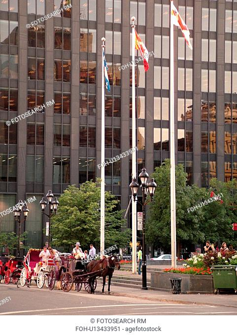 Montreal, Canada, QC, Quebec, Old Montreal, Place d'Armes, carriage ride
