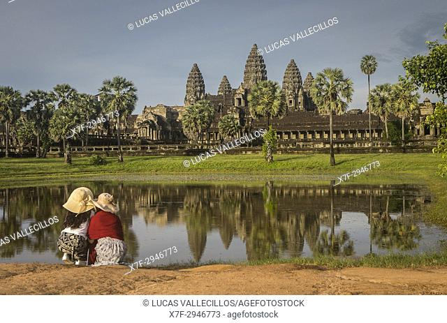 Tourists, Angkor Wat, Siem Reap, Cambodia