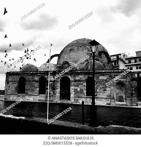 Yali Jamisi at the Venetian Harbour of Chania, Crete, Greece