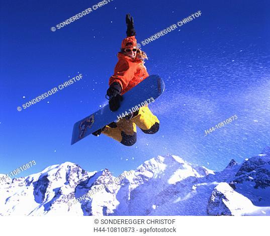 adventure, Alps, area, Piz Bernina, canton, Engadin, glacier, Grisons, Graubunden, ice, Jump, jump, moraine, Piz Mor