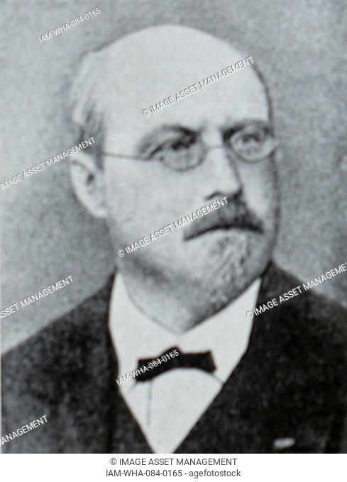 Portrait of Joachim Raff (1822-1882) a German-Swiss composer, teacher and pianist. Dated 19th Century