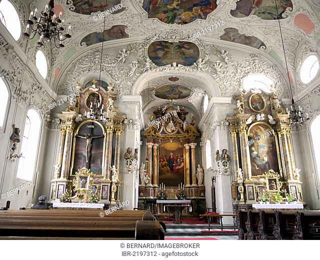 Hospital Church, Baroque church from 1700, Innsbruck, Tyrol, Austria, Europe
